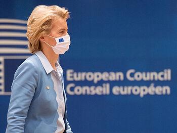 Ursula von der Leyen during the recovery fund negotiations in July