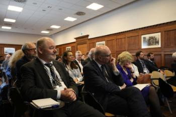 Audience at panel debate on future of Europe.