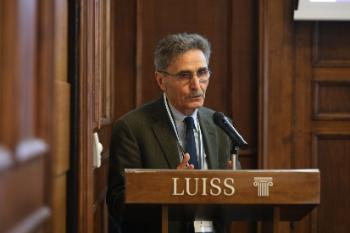 Sergio Fabbrini (Luiss University) at the panel debate on the future of Europe.